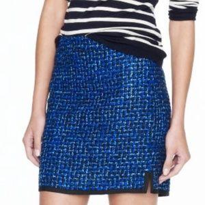 J. Crew indigo tweed skirt AA